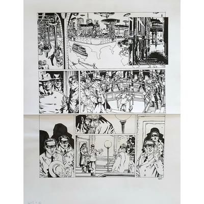 Gess - planche originale à l'encre(pl.11) - Jour J - T.7