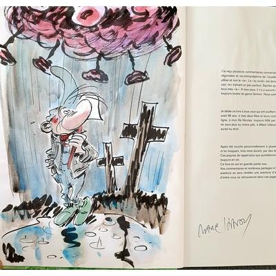 Hardy Marc - illustration originale ( dédicace en couleur) -Pierre Tombal - Le covid