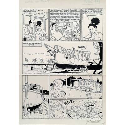 Sikorski Alain - planche originale (pl.17) - La clé du mystère T.5