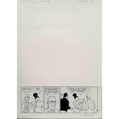Sikorski Alain -  strip de la planche originale (pl.39) - La clé du mystère T.5