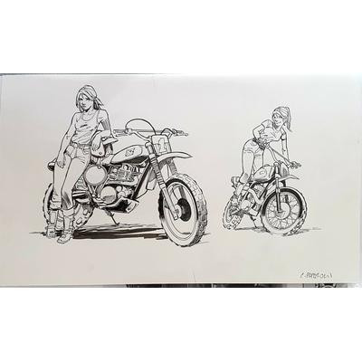 Papazoglakis Christian - illustration originale - recherche encrée
