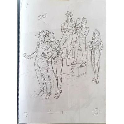 Papazoglakis Christian - illustration originale - crayonné