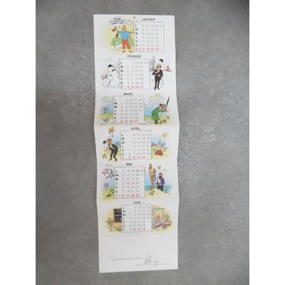 Hergé - Carte de voeux Tintin 1983 signée