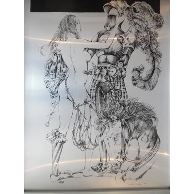 Crepax Guido - sérigraphie sur aluminium signée