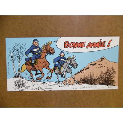 Lambil - ex-libris les tuniques bleues signé - Tropica BD