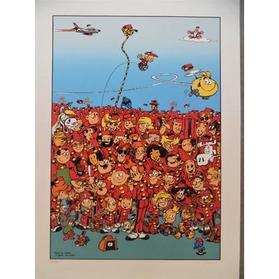 Janry - sérigraphie Spirou 3000 - numérotée et signée