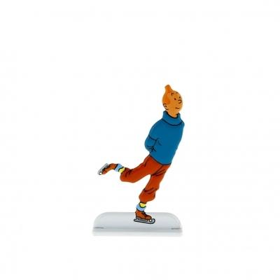 Hergé - Figurine les archives  Tintin en métal