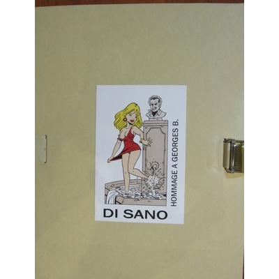 Di Sano - Portfolio hommage à Georges Brassens - signé