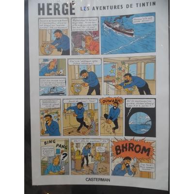 Hergé Offset planche Tintin