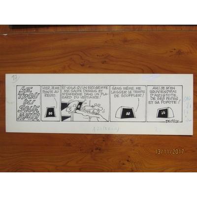 Deliège - Strip original - Le trou du souffleur