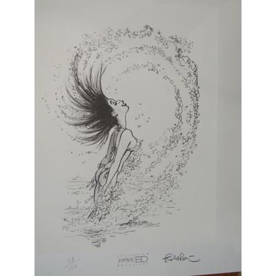 Walthéry - Lithographie Pin-up - Espace BD - signée