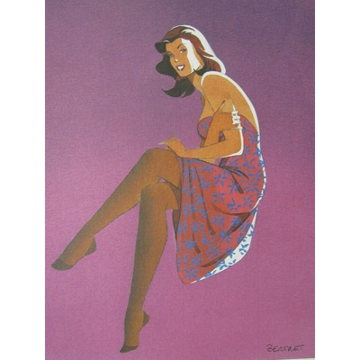 Berthet - Lithographie Pin-up