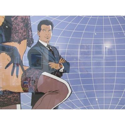 Francq - Sérigraphie James Bond 007 - MGM - signée