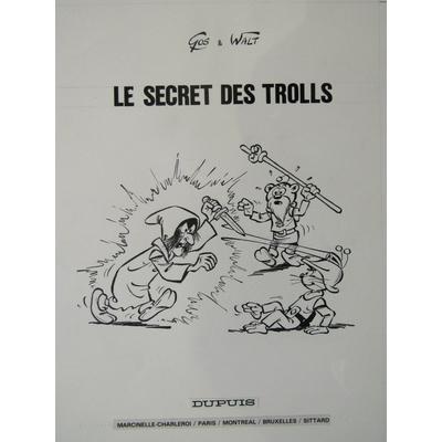Gos - illustration originale page de titre - Le scrameustache - Le secret des trolls