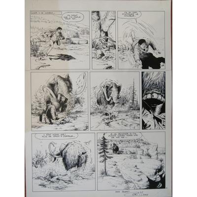 Coria - planche originale - Bob Morane - Le réveil du Mamantu