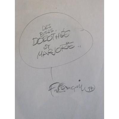 Franquin André - Dédicace - La queue du marsupilami - EO(1987)