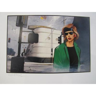 Bilal Enki - Los Angeles -Tirage de tête+ ex-libris+triptyque - signé