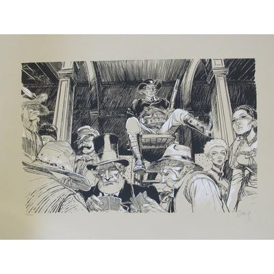 Boucq François - sérigraphie Bouncer - signée