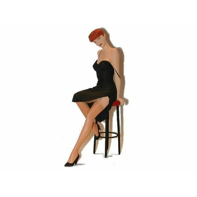 Berthet - Figurine Pin-up 2 - Tabouret -Fariboles 2001
