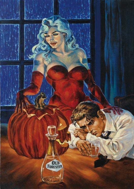 ga 177_Kas - Halloween blues - peinture sur toile