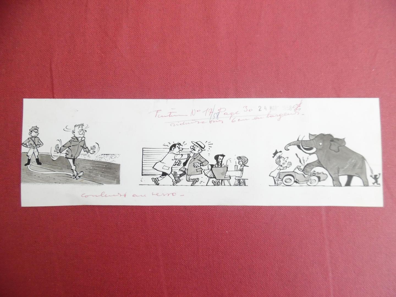 ga220_Will - illustration originale du Tintin 1958
