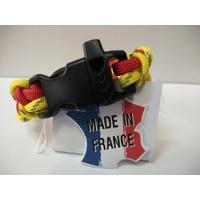 Bracelet Paracorde Piranha Sifflet d'urgence