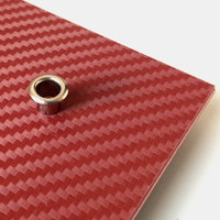 Holstex® Blood Red Carbon épaisseur .080""