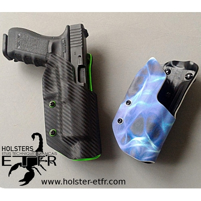 impression flammes kydex etfr infused custom bleues