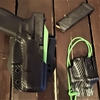 holster dual noir vert zombie carbone pontet etfr kydex france holstex paracord