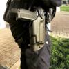 holster administratif pro level 2 3 police gendarmerie etfr france lampe surfire x 300 ultra bride rétention safariland
