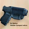 holster sacoche à bandouilière velcro police gendarmerie glock 26 option etfr france option 1