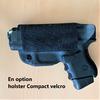 holster sacoche à bandouilière velcro police gendarmerie glock 26 option etfr france option 3