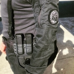 porte chargeur double police raid france kydex glock etfr