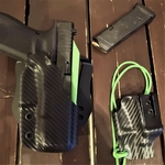 holster dual noir vert zombie carbone pontet etfr kydex france holstex paracord