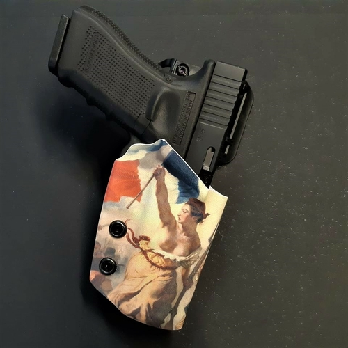 holster engaged etfr kydex france glock 17 infused impression custom sur mesure étui arme la liberté guidant le peuple delacroix