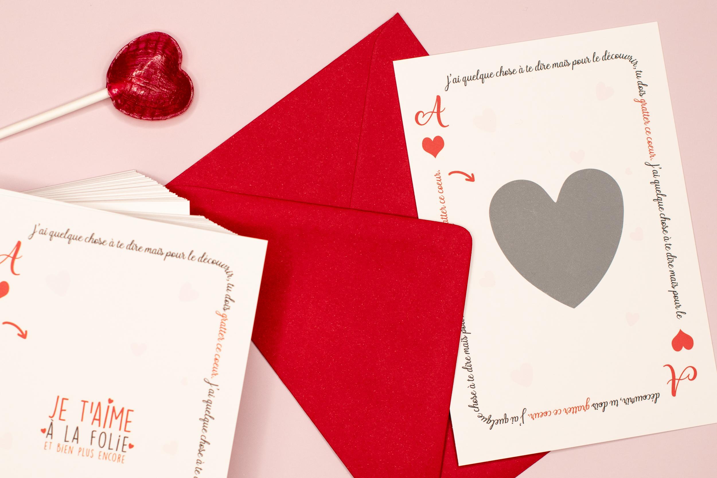 Carte pour déclarer son amour - carte pour la Saint-Valentin et autres occasions amoureuses