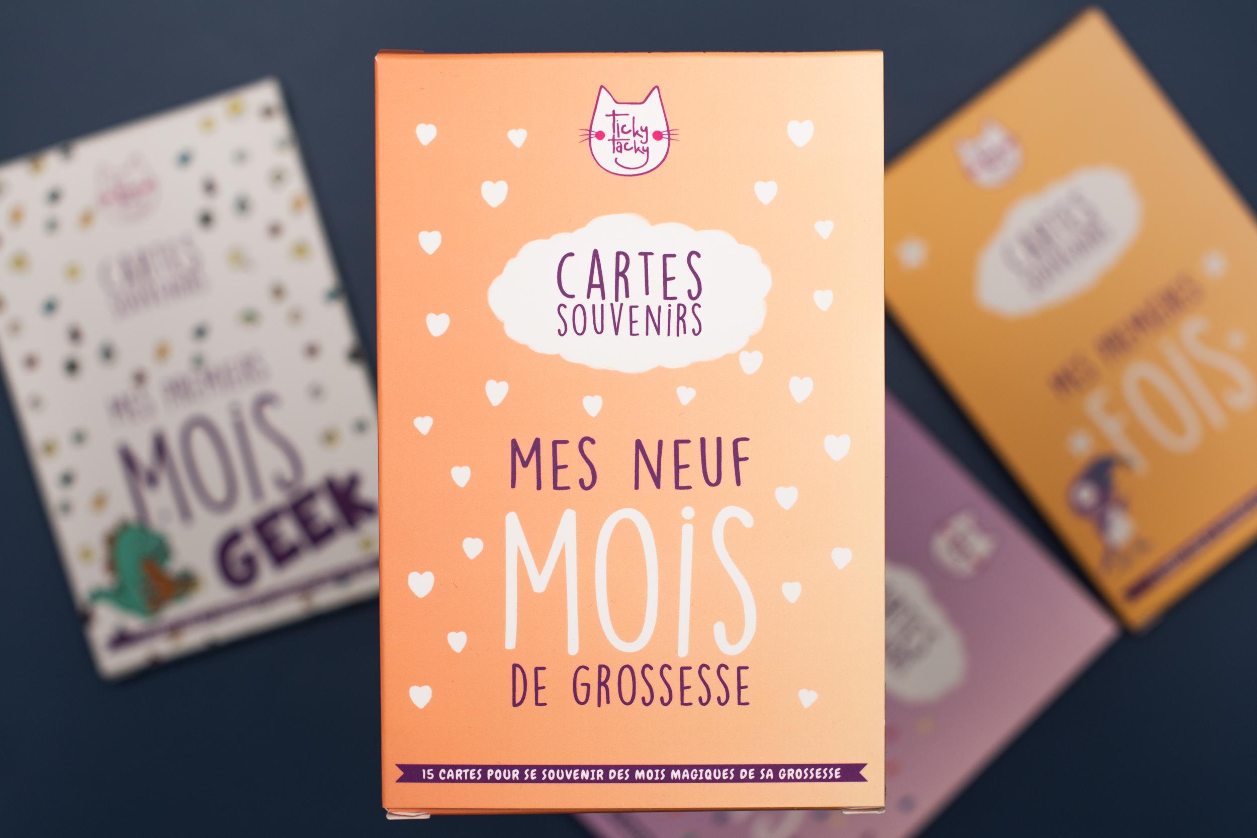 Mes 9 Mois de Grossesse - 15 cartes souvenirs pour se souvenir des mois magiques de sa grossesse