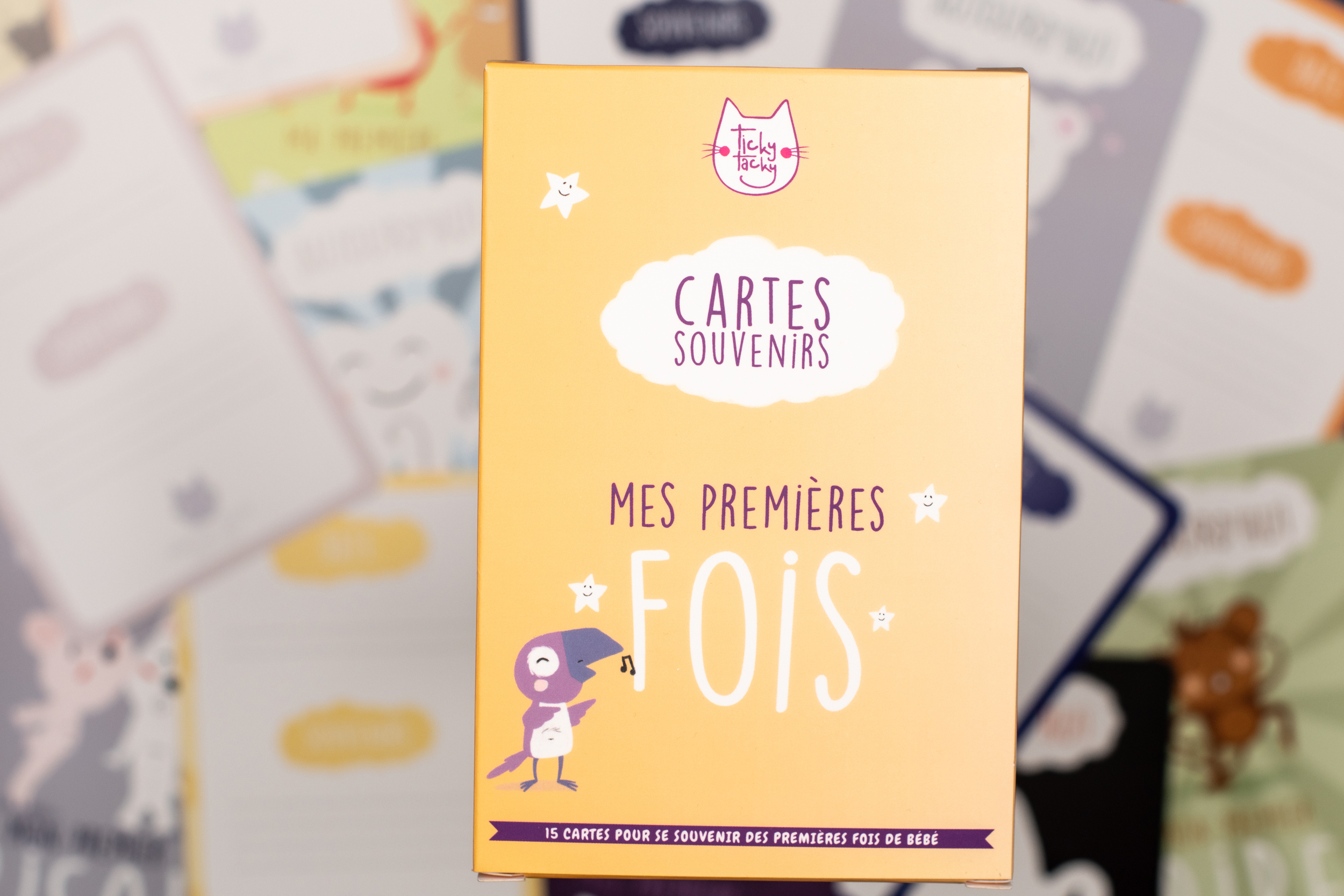Cartes souvenirs Mes premières fois - 15 Cartes étapes pour bébé