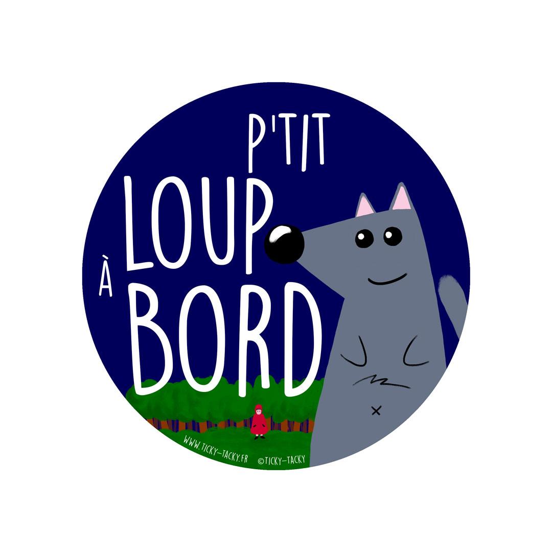 Stickers voiture – P'tit Loup à Bord