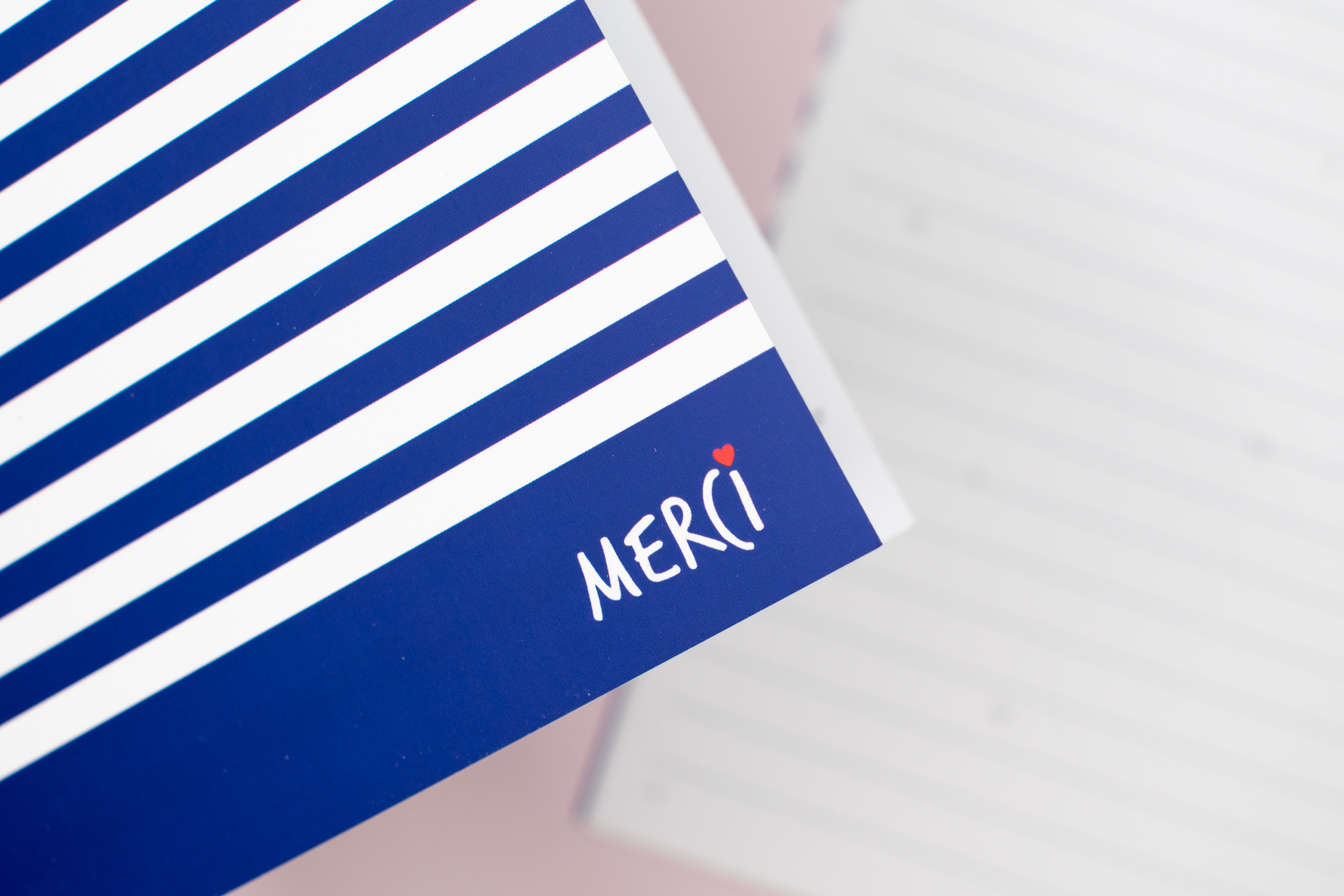 Cahier Merci 32 pages | version marine