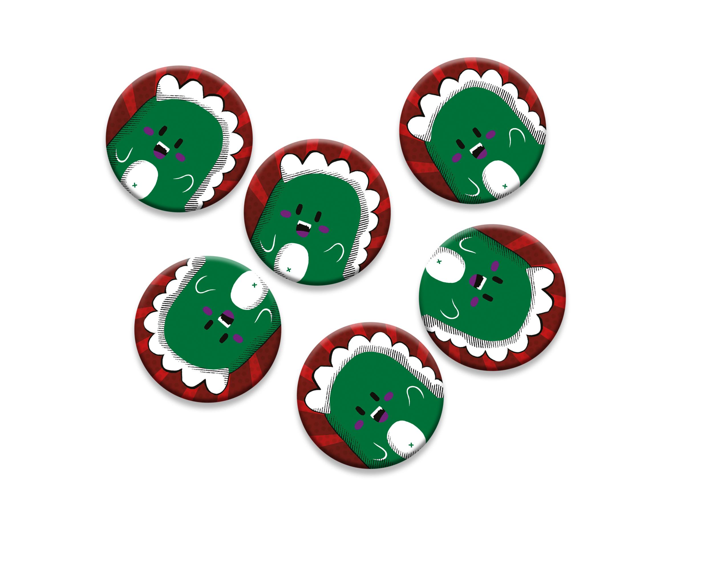 6 badges pour enfants | Anniversaire thème Dinosaure