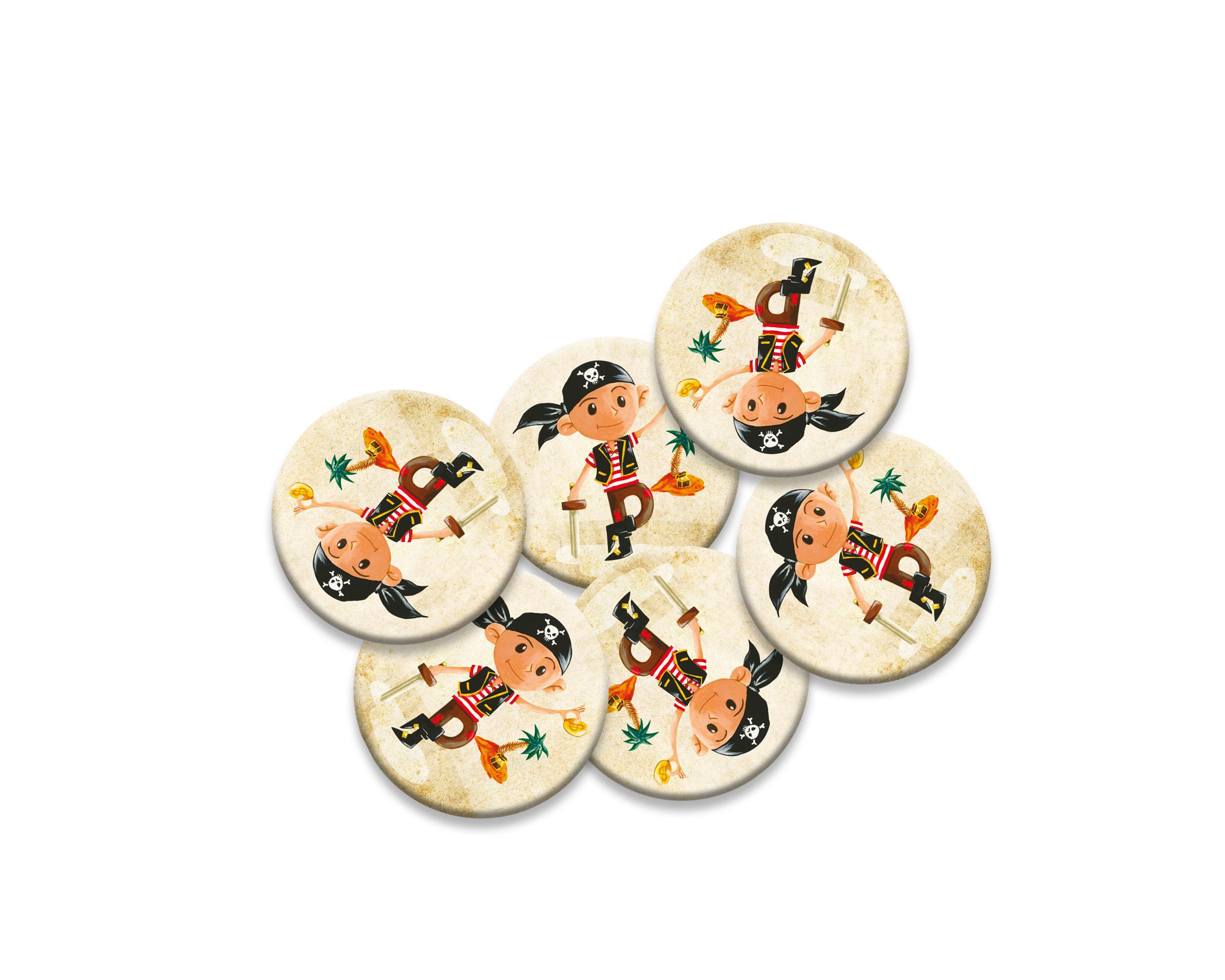 6 badges pour enfants | Anniversaire thème Pirate