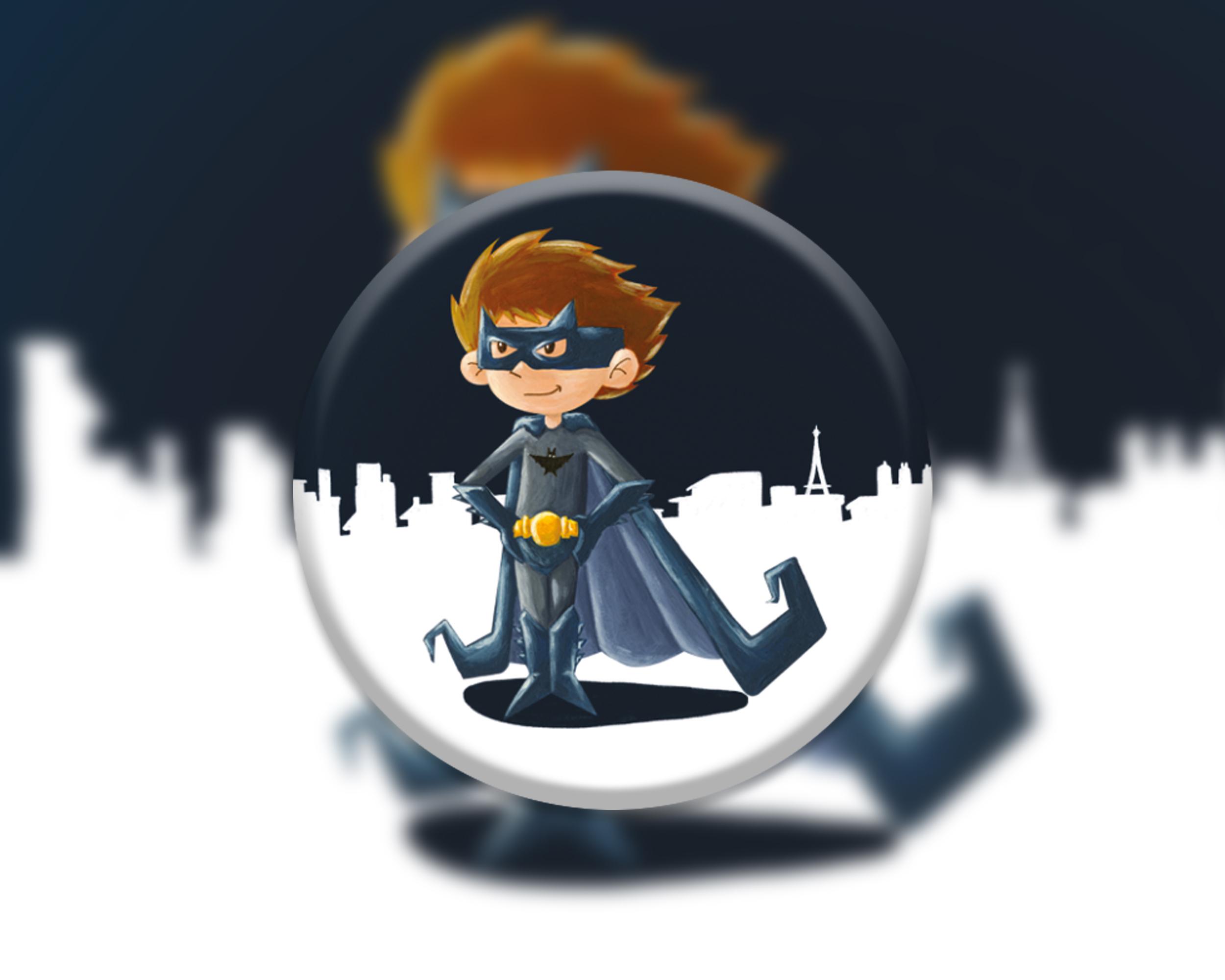 6 badges pour enfants | Anniversaire thème Batman