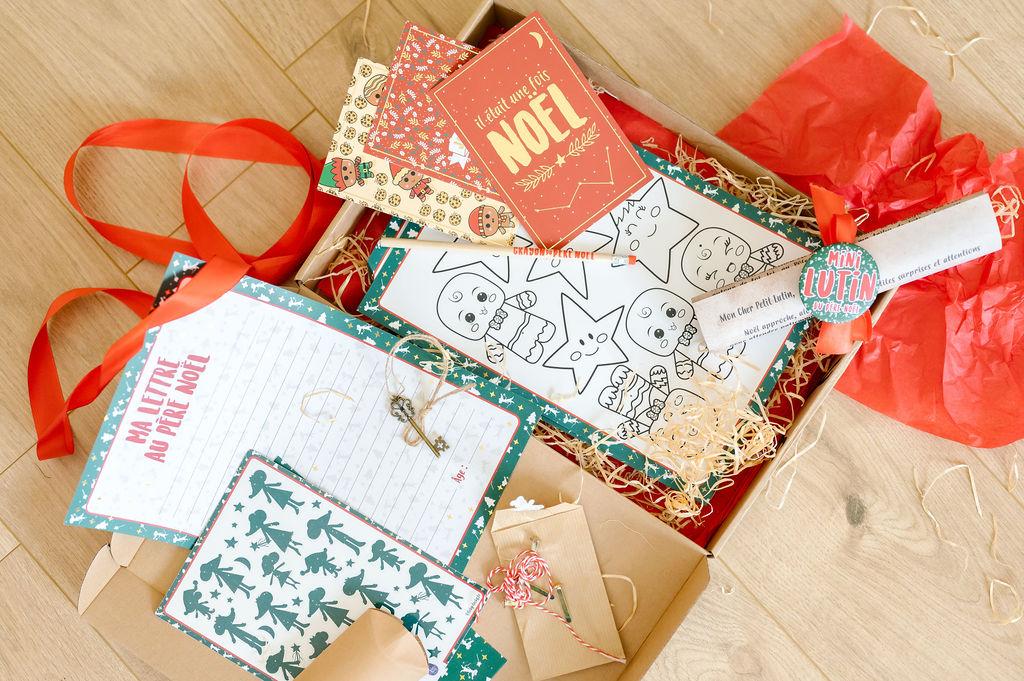 Ma jolie box de Noël pour enfant   Colis de surprises de Noël pour enfant   Papeterie de Noël pour enfant
