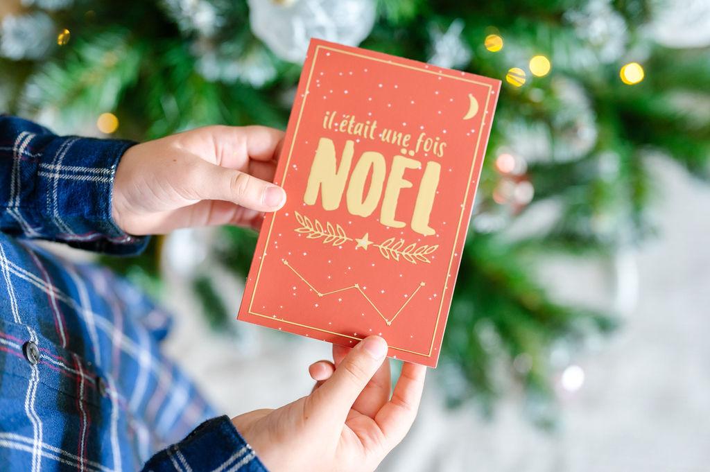 Lot de 5 cartes de vœux pour Noël | Cartes postales version Il était une fois Noël | Cartes de vœux enveloppes comprises