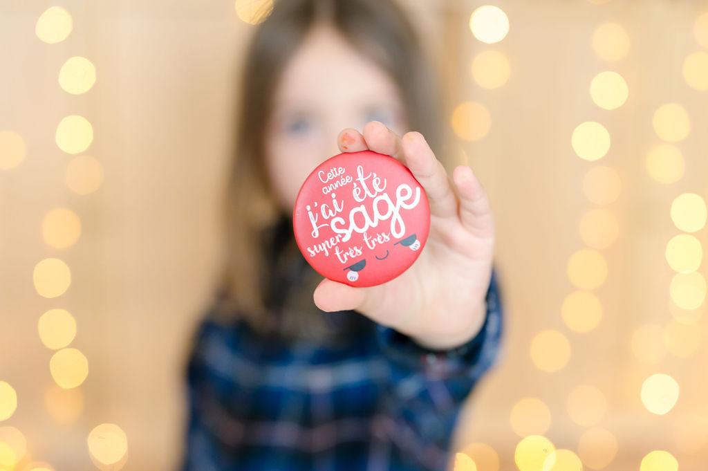 Maxi Badge de Noël | Ticky-Tacky | Cette année, j'ai été super très très sage | Version rouge | Petite idée cadeau de Noël