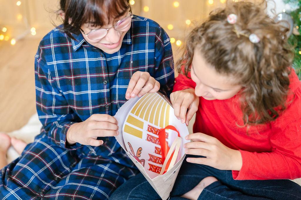 Kit de loisirs créatifs pour enfants | Kit de loisirs créatifs pour Noël | Fabriquer sa couronne de Noël