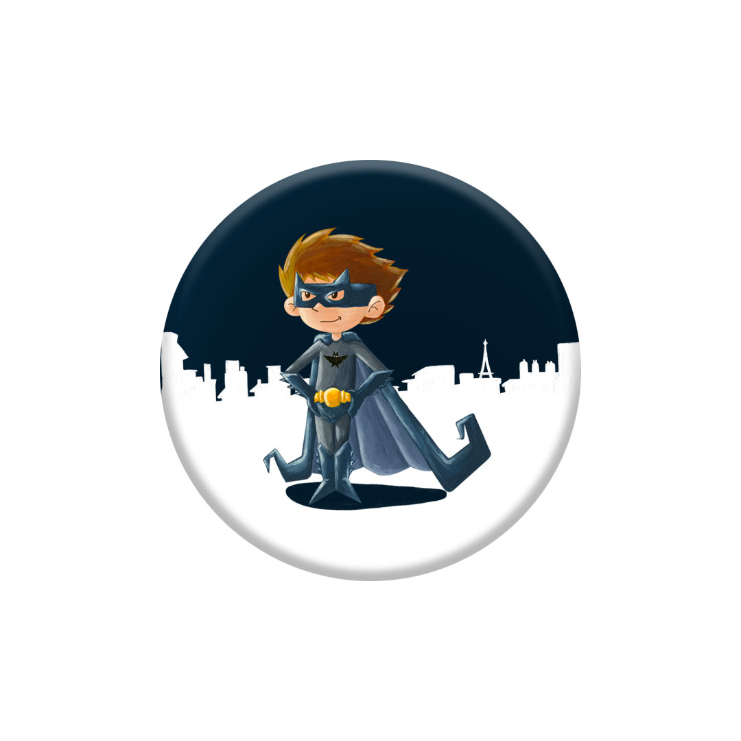 Miniz badge – Bat' inspiré de Batman