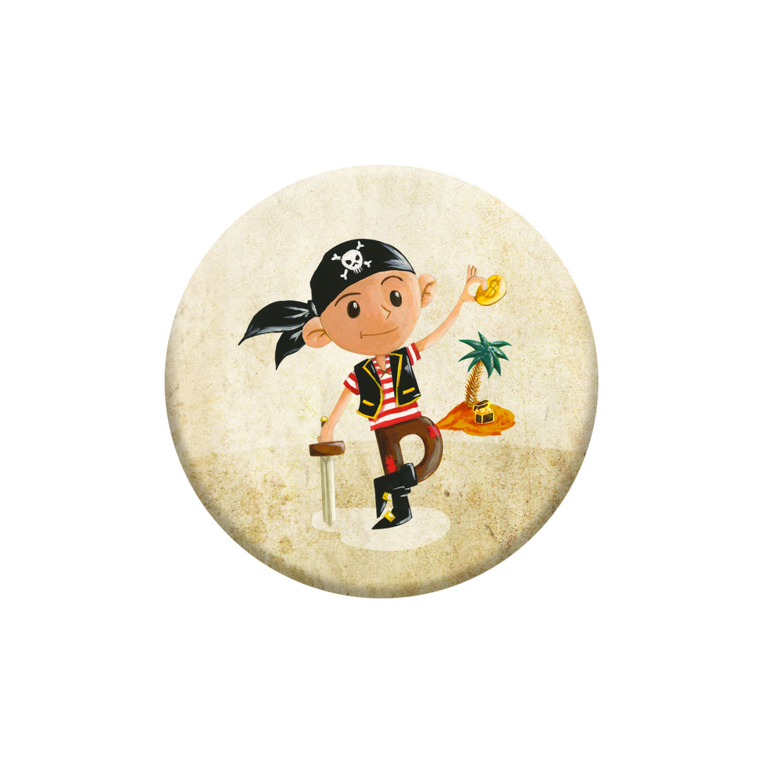 Miniz badge – Jack inspiré des plus grands pirates