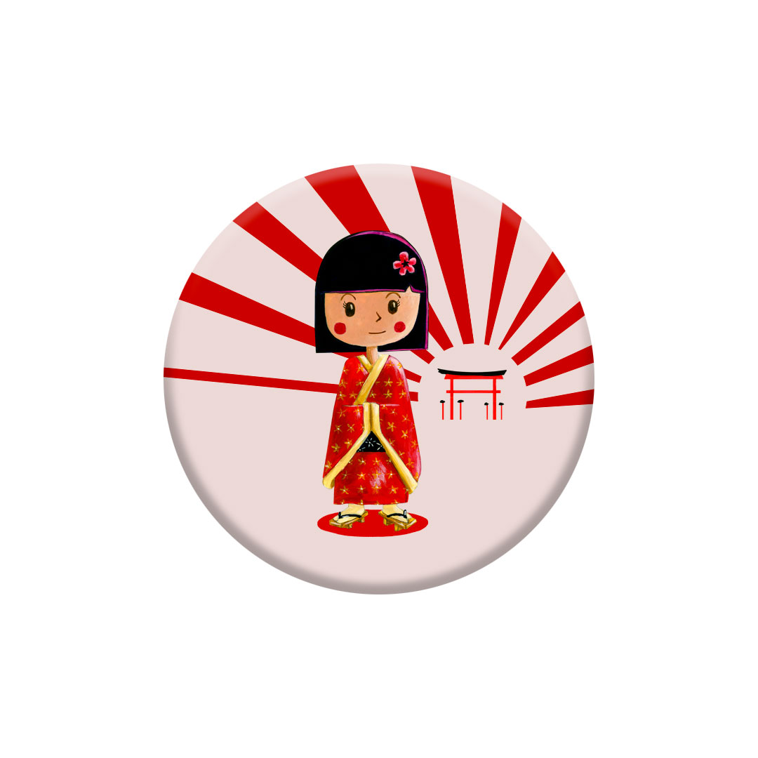 Miniz badge – Koke inspiré du Japon
